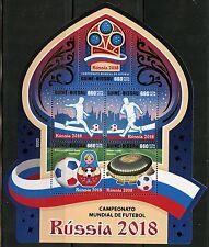 GUINEA BISSAU 2016 WORLD CUP SOCCER RUSSIA 2018  SHEET MINT NH