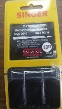 NEW Singer Premium Hemstitching Needles 2040 90/14 Qty 2