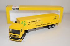 ± LION CAR DAF 95 TRUCK WITH TRAILER WAGENPARKMANAGEMENT DE HAKENBERG NM BOXED