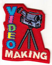 """VIDEO MAKING"" PATCH -   Iron On Embroidered Patch - Professions, Hobby. Crafts"