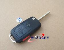 3+1 BUTTON FLIP REMOTE KEY FOB CASE for VW GOLF PASSAT JETTA BEETLE POLO GTI