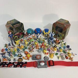 Pokemon figure bundle small toys including poke-balls Tins 99p Start Auction!