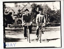 Laurel And hardy ride bicycles RARE Photo
