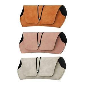 Soft Simple Women Glasses Case Portable Retro Sunglasses Eyewear Box Bag