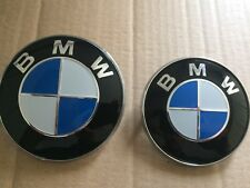 NUOVO X2 BMW Cuffia & avvio Badge Emblema 74 & 82 mm, E30 E36 E46 E39 E60 1, 3, 5, 7