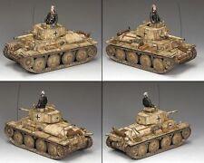 """King and Country WW11 Forces allemandes """"PZ. Pour Kpfw 38 (t) WSS225 Réduit à Transparent"""