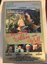 Marriage is Alive and Well 1980 TV Movie Big Box VHS RARE OOP JOE NAMATH U.S.A.