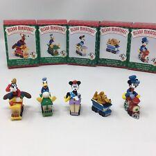 1998 Hallmark Keepsake Merry Miniatures Figurines Disney Mickey Express Set of 5