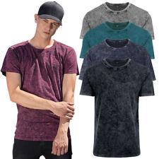 Cotton Addict Mens Acid Washed Short Sleeve Cotton T Shirt