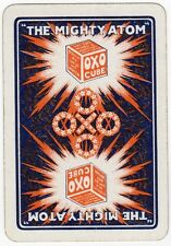 Playing Cards 1 Single Swap - Old Vintage Wide OXO Advertising THE MIGHTY ATOM