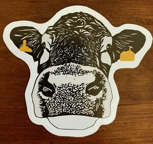 Cow Sticker Yellow Tagged Decal NEW - Buy Any 4 for $1.75 Each Storewide
