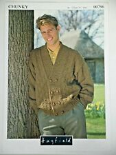 Hayfield Knitting Pattern Mens Double Breasted Jacket Chunky 34-44 00796 Vintage