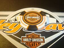 Harley Davidson Motor Cycles $1 Poker Chip Golf Ball Marker Card Guard White/Blk