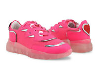 LOVE MOSCHINO Women's Sneakers Shoes in Pink & Silver