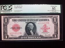 1923 $1 One Dollar Legal Tender Fr. 40 PCGS 63 Choice New  Watermelon Collection