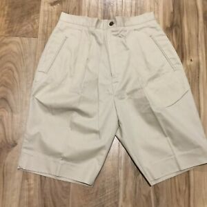 J Crew Woimens Cotton Mom Shorts Size 12 Pleated High Rise Side Pockets 29 Waist