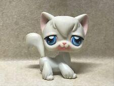 Littlest Pet Shop Lps #9 Angora Cat White Blue Dot Eyes Preowned