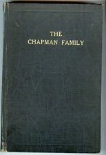 History - Genealogy The Chapman Family HC Book, Central West Virginia, 1942