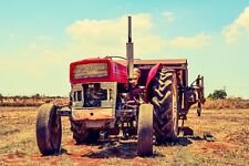 OLD FARM TRACTOR CANVAS PICTURE POSTER PRINT UNFRAMED 6248