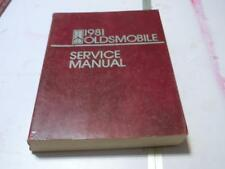 1981 Oldsmolbile Cutlass 98 88 Omega Toronado Shop Service Repair Manual Guide (