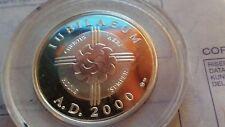 moneta Giubileo A.D. 2000 argento millennium Piazza San Pietro
