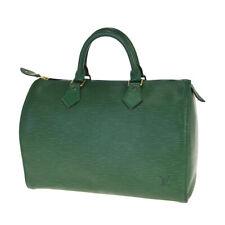 Auth LOUIS VUITTON Speedy 30 Travel Hand Bag Epi Leather Green M43004 39BM916