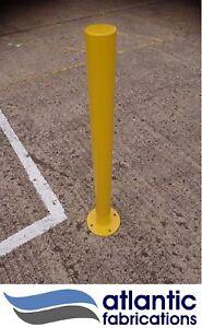 Steel security bollard, parking post, Bolt Down, 76mm ( new )