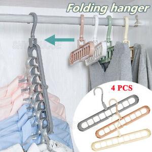 Magic Kleiderbügel,6Stück Platzsparende Kleiderbügel Multi Bügel HangerOrganizer