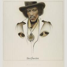 Gunter Gritzner: Jimi Hendrix. Farblithographie 1974.