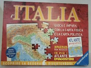 Italia 2  Puzzle set  Ravensburger Special Edition  Geographic Map  Italy  book