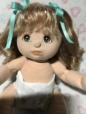1985 My Child Doll Aussie  Ash Blonde Midpart Ringlet Green Eyes No Clothes