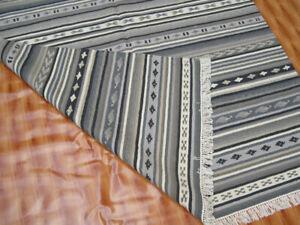 Southwestern Navajo Kilim Dhurry Handmade Area Rug Wool Large Kelim Rug 5x7 ft