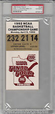 1992 NCAA Basketball Finals TICKET DUKE vs Michigan PSA Authentic Encapsulated