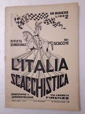 L'Italia scacchistica rivista quindicinale di scacchi n.6 anno 1931 IX