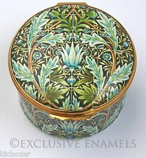 Halcyon Days Enamels William Morris 150th Anniversary Commemorative Enamel Box