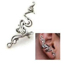 1PC Novelty Rhinestone Earring Vintage Silver Wrap Ear Cuff Clip/Stud Pierced