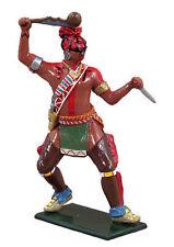 Britains soldados 47053 Native American Warrior Huron atacar Guerra Club 1751-64
