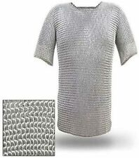 New listing Aluminium Chainmail Shirt Butted Aluminum Chain Mail Haubergeon Medieval M Size