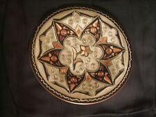 Assiette décorative orientale artisanale en cuivre ciselé de 19 cm de diamètre