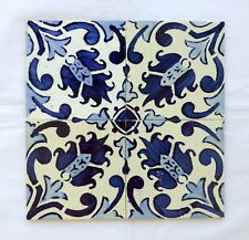 Set of 4 portuguese TILES CONSTÂNCIA LAPA hand painted