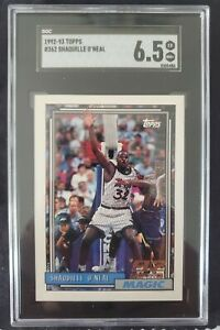 shaquille o'neal rookie card Rc #362 Sgc 6.5 Near Mint Topps 1992-93