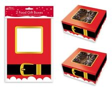 2 Christmas Food Presentation Gift Boxes Box For Cupcakes Muffin Cake Party XPAB