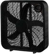 PELONIS Box Fan 20 in. 3 Speed Black Carry Handle Portable Indoor Quiet Air Flow