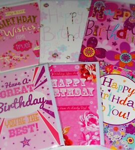 33p GREAT PRICE, LIFESTYLE CARDS x24  FREE POST 4 DESIGNS x6, BIRTHDAY, WRAPPED