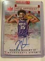 2018-19 NBA Court Kings Red Heir Apparent Rookie On Card Auto Marvin Bagley /99