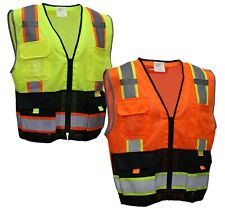 Rk Class 2 High Visible Two Tone Reflective Strips Breathable Mesh Vest P55112