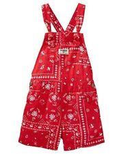 OshKosh Bgosh Baby Girls Bandana Print Shortalls - Red -...