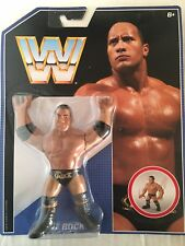 MATTEL WWE RETRO SERIES 2  THE ROCK WRESTLING ACTION FIGURE MOC