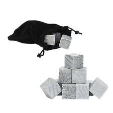 Whisky Steine 9er Set, Eiswürfel wiederverwendbar Kühlwürfel Getränke Kühlsteine