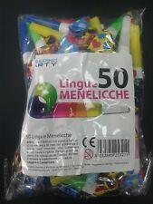 LINGUE MENELICCHE 50 Pz. FESTA PARTY ANIMAZIONE GIOCHI DIVERTIMENTO